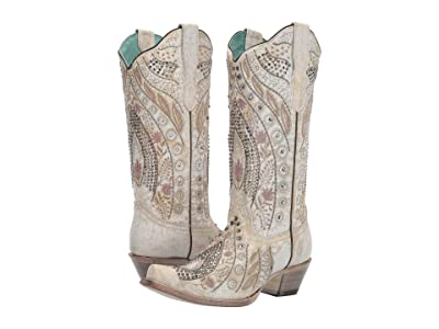 Corral Boots E1547 (White) Women
