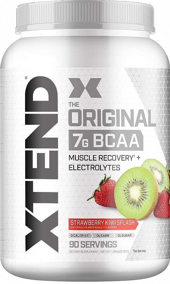 Scivation Xtend BCAA Powder, 7g BCAAs, Branched Chain Amino Acids, Keto Friendly, Strawberry Kiwi Splash, 90 Servings