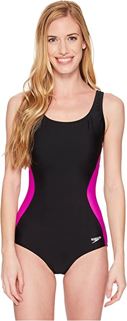 Speedo® Illusion Splice Ultraback One-Piece