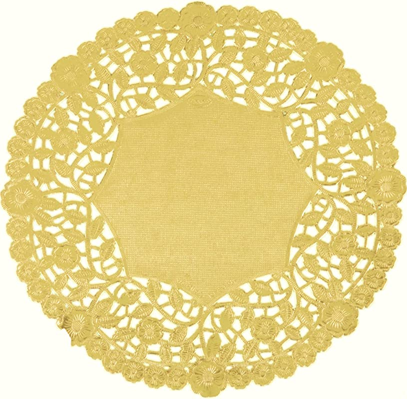 Gold Foil 6 Inch Paper Lace Decorative Doilies Heavy Duty And Premium Quality Made In Canada Made In Canada Pack Of 50