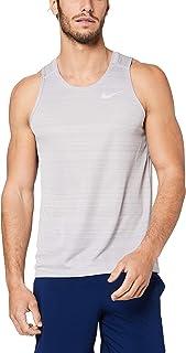 Nike Australia Men's Dri-FIT Miler Tank, Black/Reflective Silver