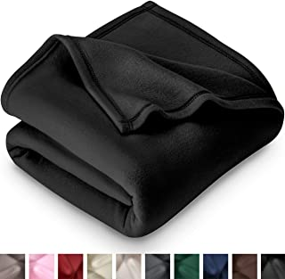 Bare Home Polar Fleece Blanket - Full/Queen - Warm Cozy - Hypoallergenic Premium Poly-Fiber Yarns - Thermal - Lightweight Bed Blanket (Full/Queen, Black)