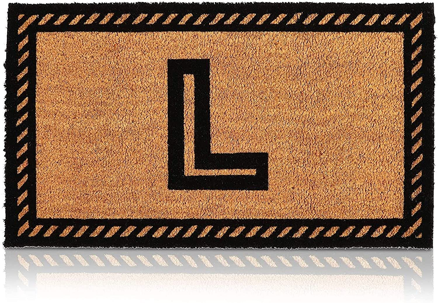 Coco Coir Initial 55% OFF Letter L Monogram in Doormat 2021 spring and summer new x 30 17