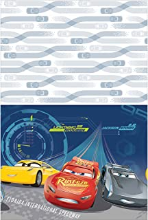 """Disney©""""Cars 3"""" Plastic Table Cover, Party Favor, 6 Ct."""
