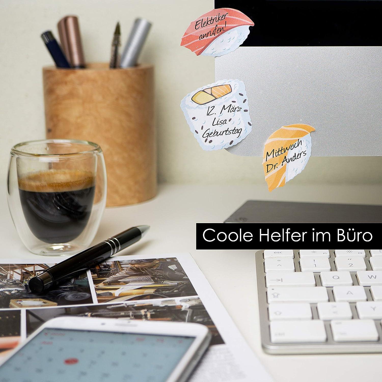 OfficeTree Blocs de Notas Adhesivas 5 x 90 Hojas Cada Bloc Patatas Fritas Bloc Notas adhesivas Ideal para Estudiantes y Como Accesorio de Oficina