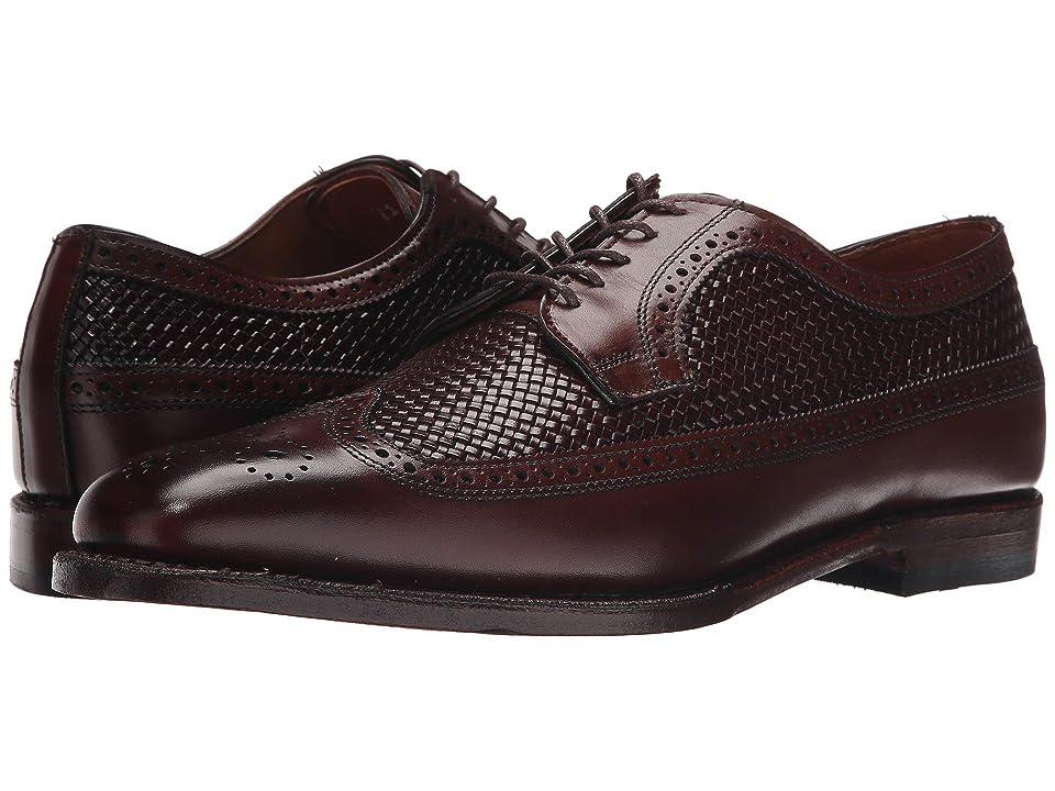 Mens Vintage Style Shoes & Boots| Retro Classic Shoes Allen Edmonds Leiden Dark Chili WeaveDark Chili Burnished Calf Mens Shoes $424.95 AT vintagedancer.com