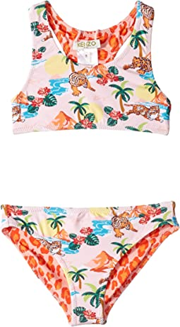 Reversible Two-Piece Printed Swimsuit (Little Kids)