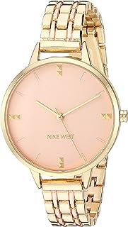 Nine West - Reloj de pulsera para mujer, color dorado
