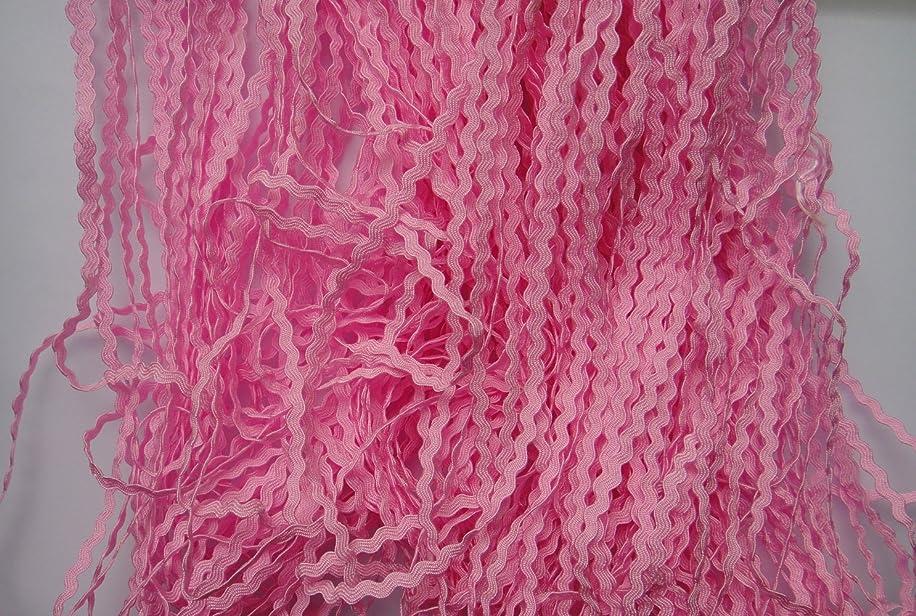 Lyracces Wholesale Lots 50yards Mini 3mm Pick Color Woven Rick Rack Ribbon Ric Rac Trims Scrapbooking Dressmaking (Pink)