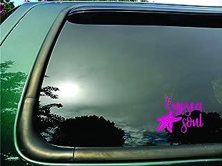 Gypsea Soul Starfish Pink- Die Cut Vinyl Window Decal/sticker for Car/Truck/Laptop 6.5