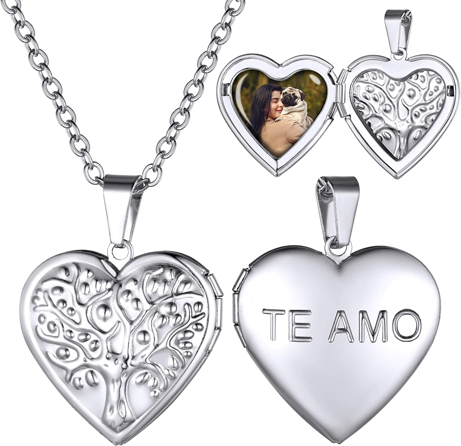 GOLDCHIC JEWELRY Heart Locket Necklace OFFicial mail order 18K Platinum Gold Plated Sales