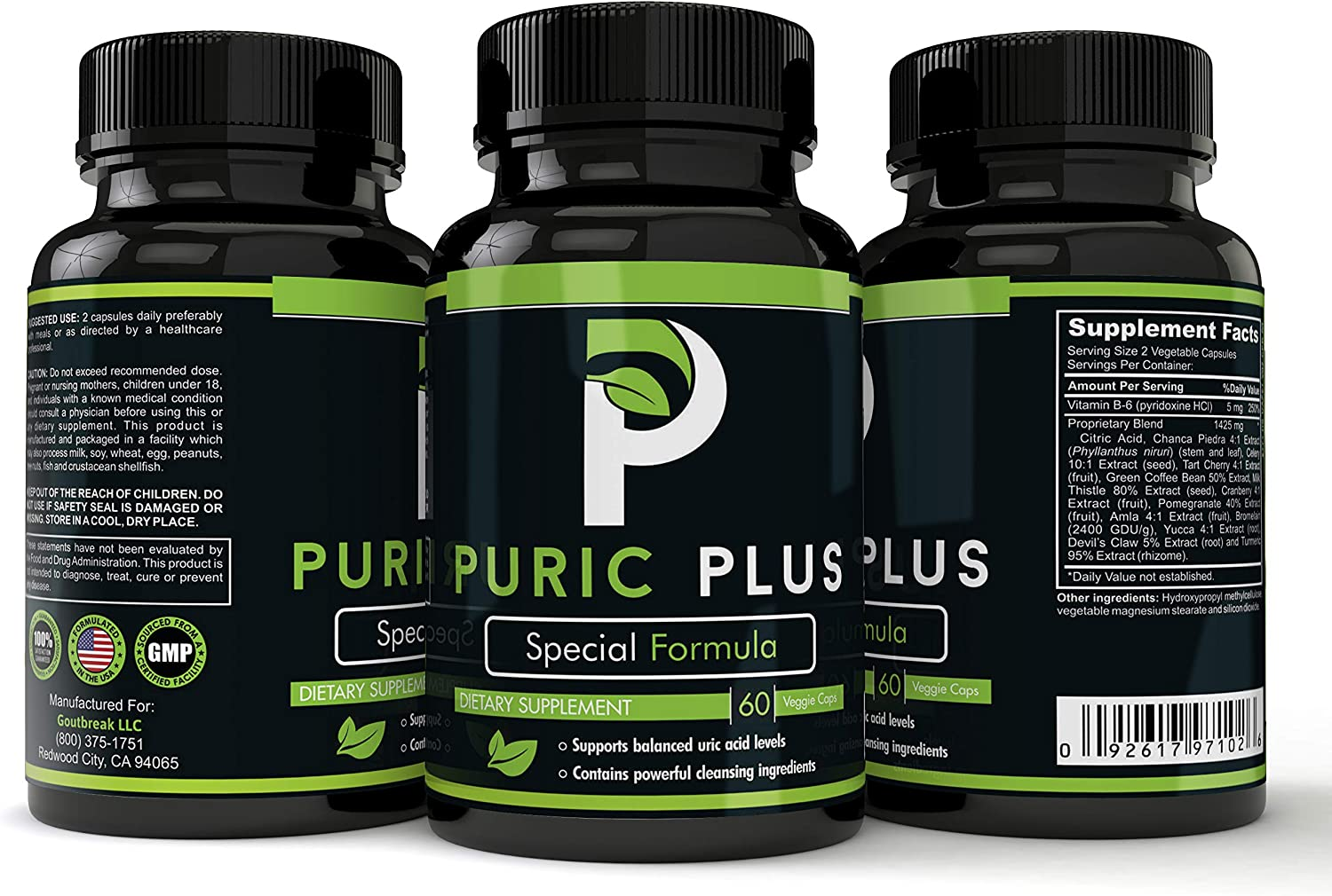 Puric New York Mall Plus - Uric Acid Support Kidney Max 56% OFF Liver Prem for and Health