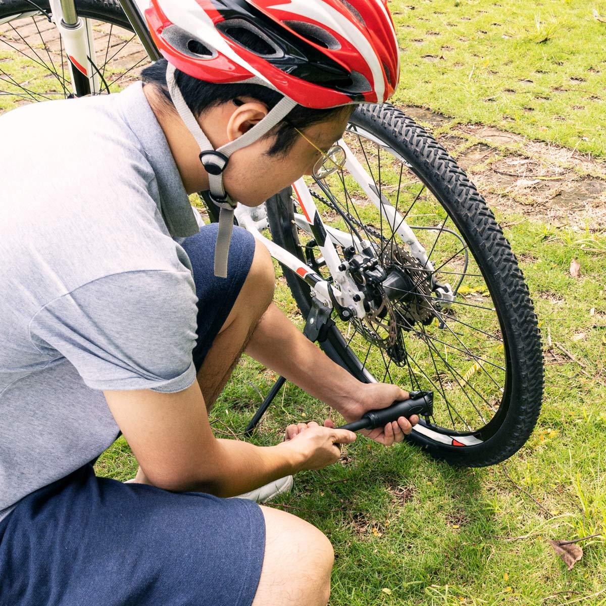 Navaris Mini Bomba de Aire compacta para Bicicleta - Inflador para ...