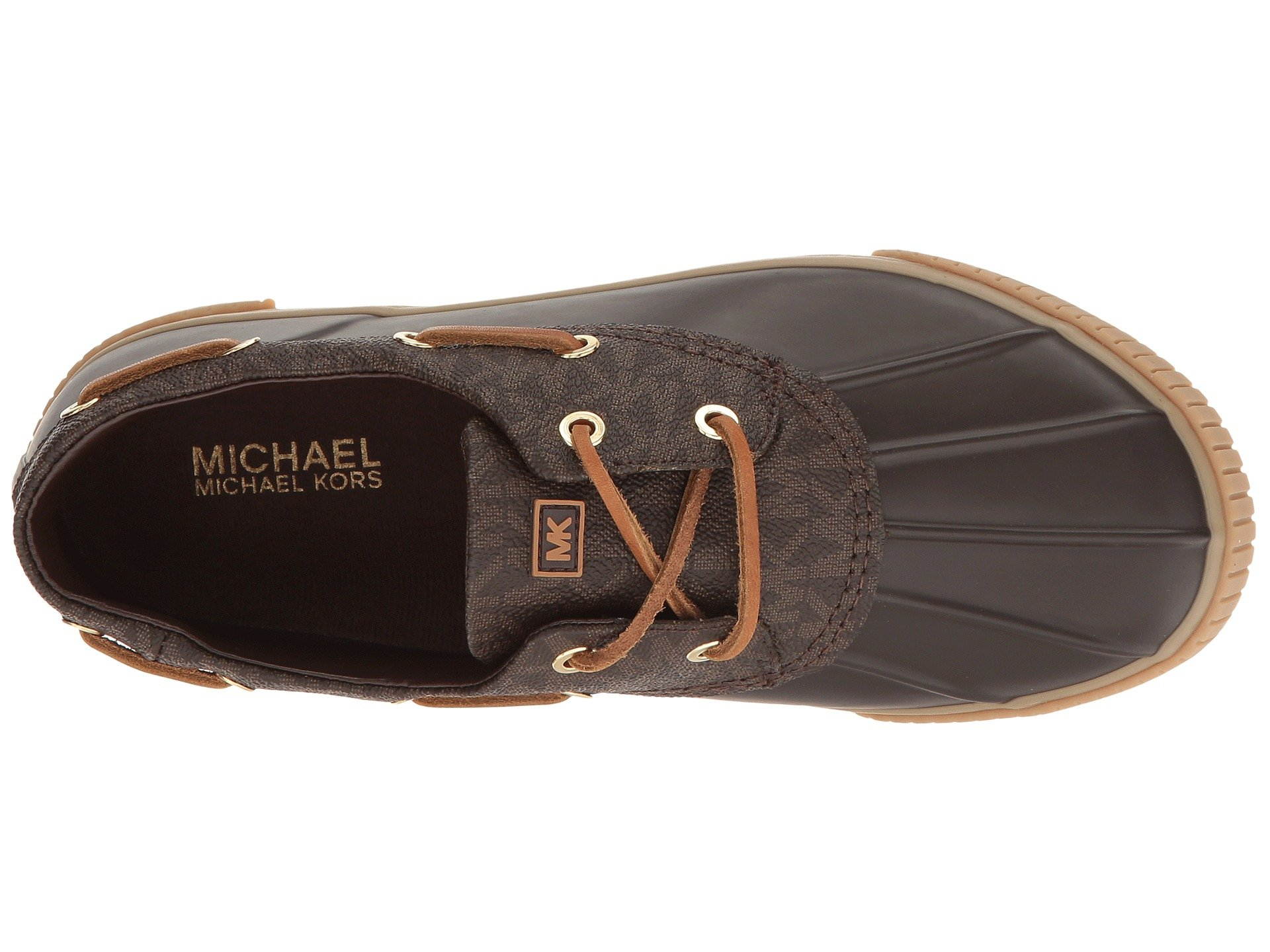 MICHAEL MICHAEL KORS Hyde Lace Up Brown Rubber Mini Mk Logo Pvc