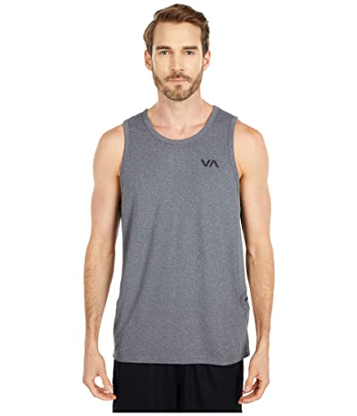 RVCA Sport Vent Tank (Charcoal Heather) Men