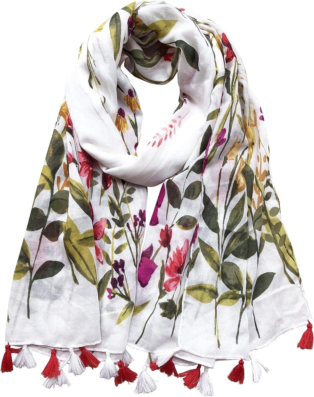 Lightweight Women's Fashion Floral Printed Winter Fall Warm Scarves Scarf Shawl