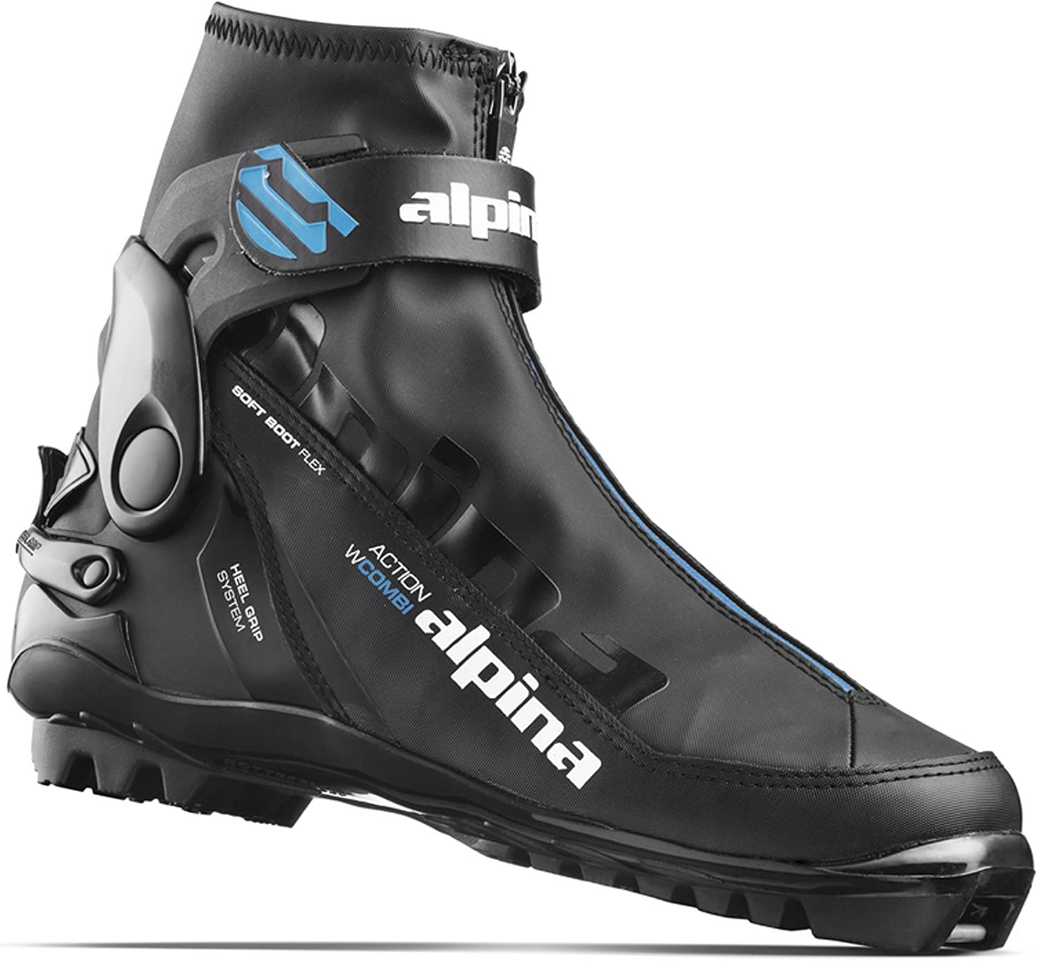 Alpina Womens BC-1550 Eve Back-Country Nordic Cross-Country Ski Boots for use with NNN-BC Binding Black//Blue 35