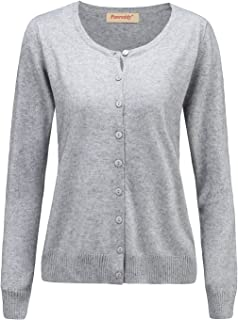 Women's Wool Cashmere Classic Cardigan Sweater