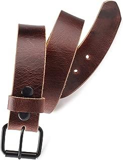 Men's Belt Genuine full Grain leather Vintage Distressed,Snap on Strap belts for men, Roller buckle,USA