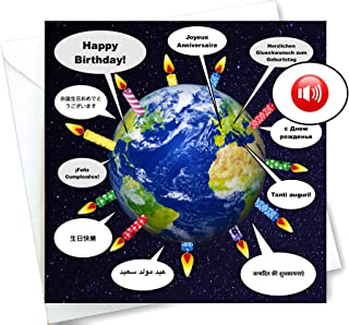Talking Happy Birthday Card In 10 Languages - Around the World