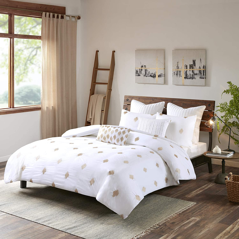 INK+IVY Stella Austin Mall Dot Comforter Set 2021new shipping free shipping Queen Full Metallic 88