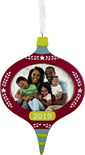 Hallmark Christmas Ornaments 2019 Year Dated, Hallmark Mahogany Festive Picture Frame Ornament