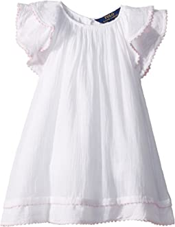 Polo Ralph Lauren Kids - Cotton Flutter-Sleeve Dress (Toddler)