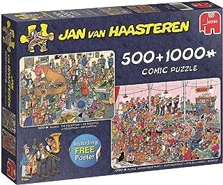 JUMBO Jan Van Haasteren The Reception & German Beer Party Jigsaw Puzzle (500 Pieces and 1000 Pieces Piece)