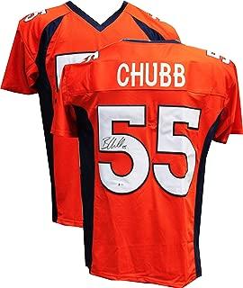 Authentic Bradley Chubb Autographed Signed Orange Jersey (Beckett COA) Denver Broncos