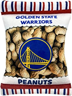 NBA Golden State Warriors Crinkle FINE Plush Dog & CAT Squeak Toy - Cutest Stadium Peanuts Snack Plush Toy for Dogs & Cats...