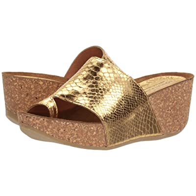 Donald J Pliner Ginie (Gold Mirror Metallic Snake) Women