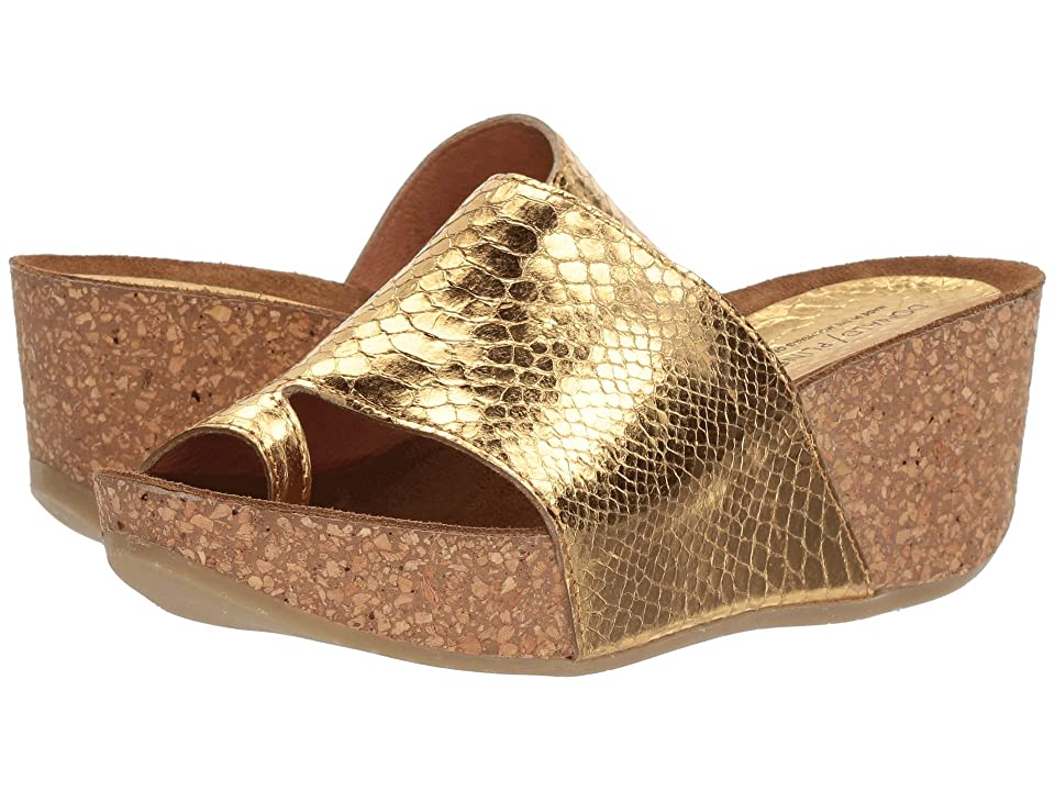 Donald J Pliner Ginie (Gold Mirror Metallic Snake) Women
