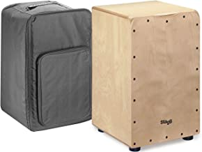 Stagg CAJ-50M N Medium Sized Cajon with Gig Bag-Natural