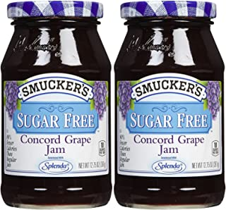 Smucker's Sugar-Free Concord Grape Jam 12.75 (Pack of 2)