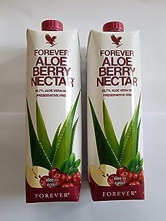 Bebida en gel de aloe vera con frutas del bosque, 2 unidades de 1 litro, selladas
