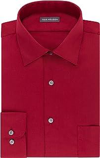 Van Heusen Men's BIG FIT Dress Shirts Lux Sateen Stretch Solid (Big and Tall)