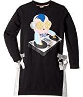 Fendi Kids - Long Sleeve DJ Fendirumi Dress w/ Side Bow Ties (Little Kids)