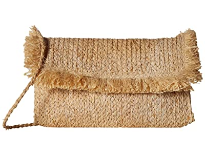 Hat Attack Fringe Clutch (Natural) Clutch Handbags