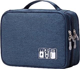 کابل سیم بند مسافرتی ضد آب Mairle ، لوازم جانبی لوازم الکترونیکی قابل حمل کیف حمل کیف با 1M Velcro ، آبی تیره