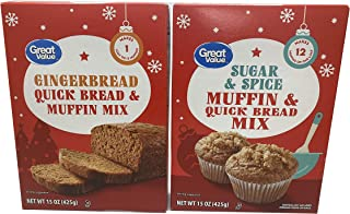 Sponsored Ad - Great Value Quick bread and Muffin Mix, Gingerbread, Sugar and Spice (Variety Pack of 2)