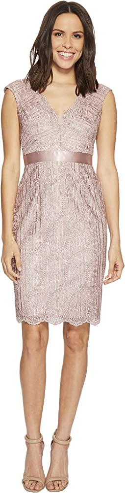 Adrianna Papell - Cap Sleeve Lace Cocktail Dress