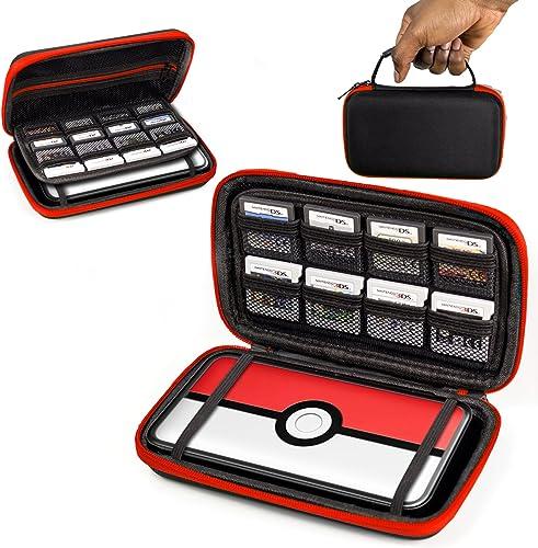 Orzly 2DS XL Case, Etui pour New Nintendo 2DS XL – Housse Rigide de Rangement Zippée en Matériau Durable Anti-Choc po...
