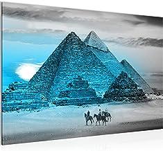 Foto's van Egypte piramide mural 60 x 40 cm stof - doek foto XXL-formaat muurschilderingen home decor Prints - Made in Ger...