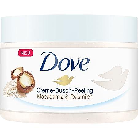 Dove - Lote de exfoliante y crema corporal de yogur para la ducha