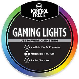 KontrolFreek Gaming Lights: striscia LED Lights, USB alimentato con Controller, adesivo 3M per TV, Console, PC, Muri (9 ft)