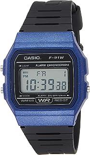 Casio Men's F-91WM-2ADF Digital Watch Resin Blue