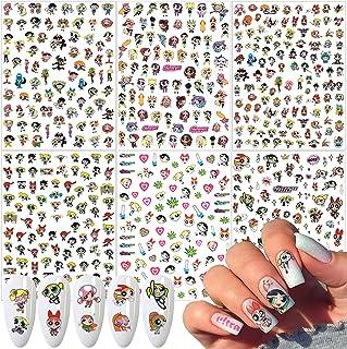 Cute Cartoon Nail Art Sticker Decals for Women Kids Girls Manicure Decoration Nail Art Supplies 3D Self-Adhesive Nail Deca...