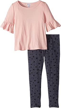 Star Print Leggings Set (Little Kids)