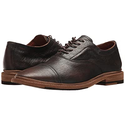 Frye Paul Bal Oxford (Dark Brown Textured Brush-off) Men