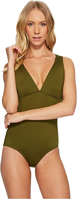 Jantzen - Solid Back Detail One-Piece